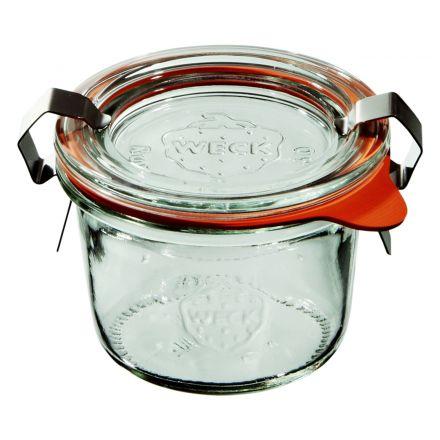 Mini słoik z pokrywką, uszczelką i 2 zapinkami 80 ml WECK op. 12 szt.
