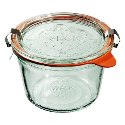 Słoik z pokrywką, uszczelką i 2 zapinkami 370 ml WECK op. 6 szt.