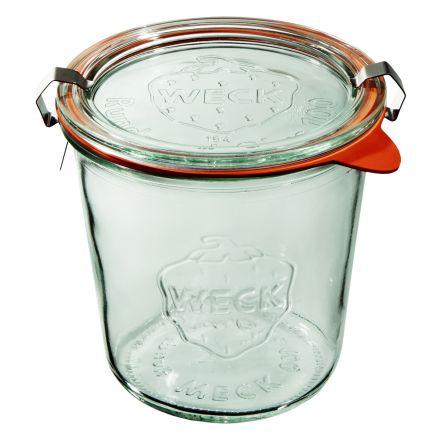 Słoik z pokrywką, uszczelką i 2 zapinkami 580 ml WECK op. 6 szt.