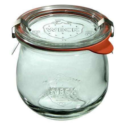 Słoik Tulip z pokrywką, uszczelką i 2 zapinkami 370 ml WECK op. 6 szt.