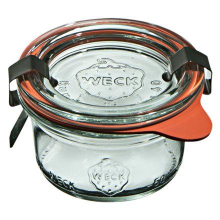 Mini słoik z pokrywką, uszczelką i 2 zapinkami 50 ml WECK op. 12 szt.