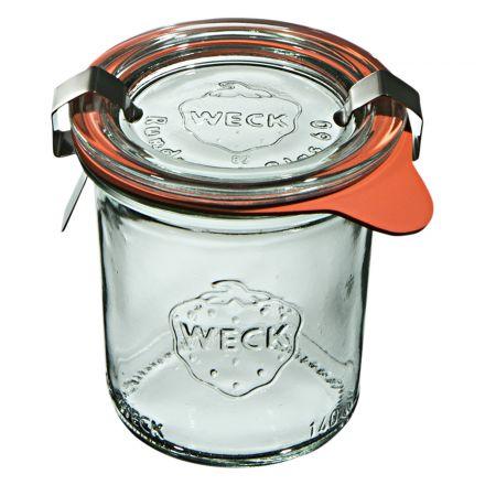 Mini słoik z pokrywką, uszczelką i 2 zapinkami 140 ml WECK op. 12 szt.