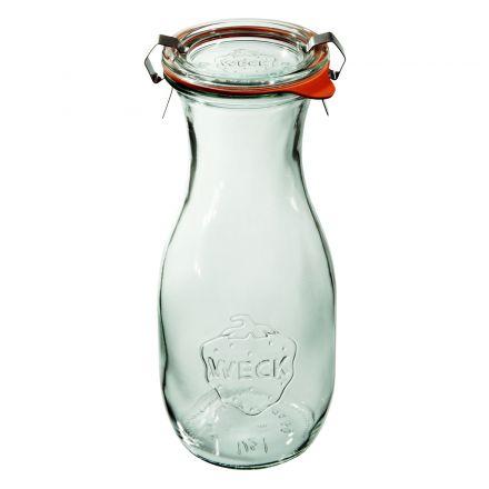 Butelka z pokrywką, uszczelką i 2 zapinkami 530 ml WECK op. 6 szt.