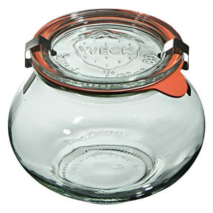 Słoik Deco z pokrywką, uszczelką i 2 zapinkami 560 ml WECK op. 6 szt.