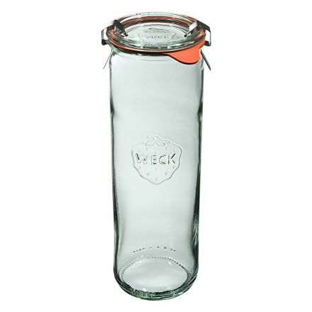 Słoik cylindryczny z pokrywką, uszczelką i 2 zapinkami 600 ml WECK op. 6 szt.