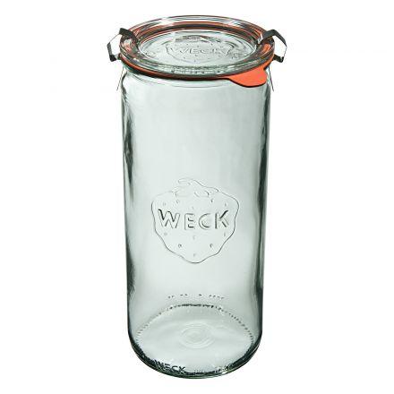 Słoik cylindryczny z pokrywką, uszczelką i 2 zapinkami 1040 ml WECK op. 6 szt.