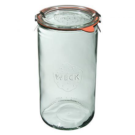 Słoik cylindryczny z pokrywką, uszczelką i 2 zapinkami 1590 ml WECK op. 6 szt.