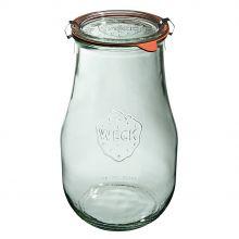 Słoik Tulip z pokrywką, uszczelką i 2 zapinkami 2700 ml WECK op. 4 szt.