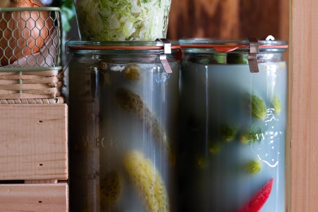 Ogórki kiszone z chili
